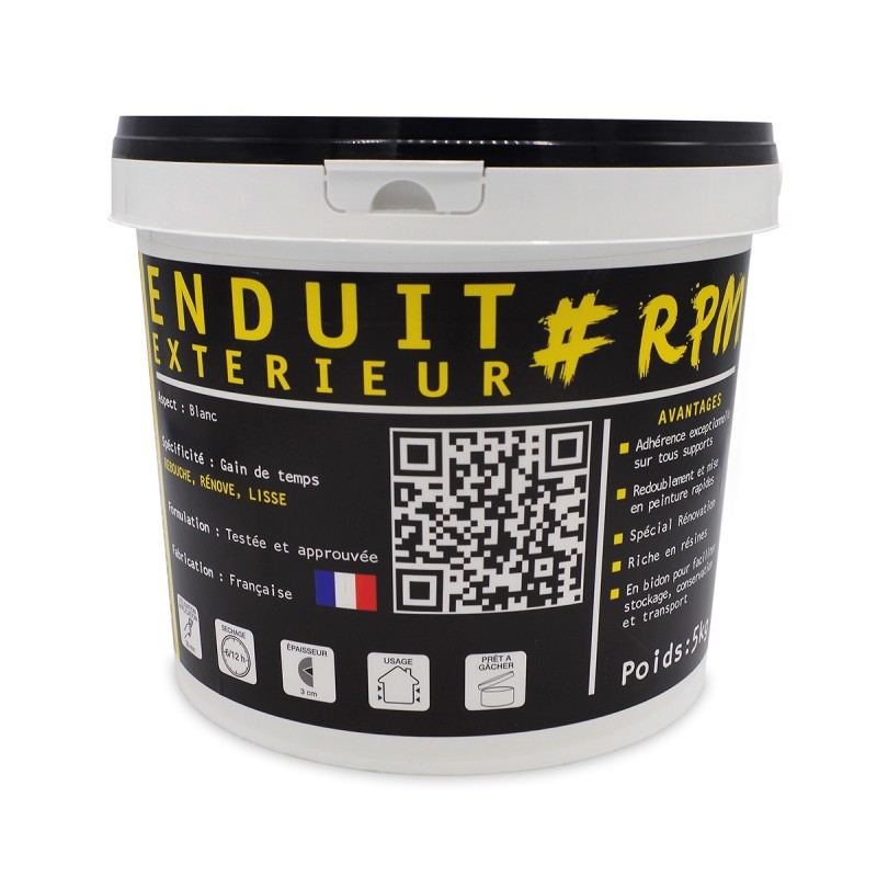 photo pot enduit de reparation et rebouchage exterieur marque the black tower company 5 kg