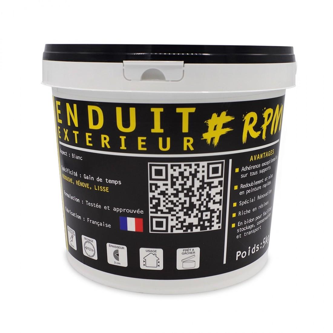Photo Pot Enduit De Reparation Et Rebouchage Exterieur Marque The Black  Tower Company 5 Kg ...