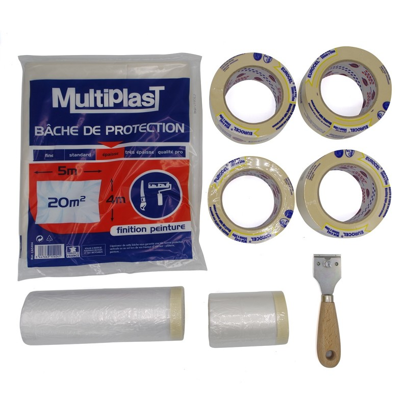 photo kit complet protection travaux peinture