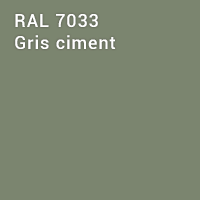 RAL 7033 - Gris ciment