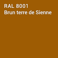 RAL 8001 - Brun terre de Sienne